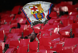 FUSSBALL Champions League 2005/2006 Halbfinal Rueckspiel FC Barcelona 0-0 AC Mailand  FC Barcelona Fahne