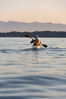 There are many coves and beaches surrounding Victoria, BC and kayaking is diverse and beautiful, with ocean vistas, arbutus trees growing at the edge of the water, and calm ocean swells.