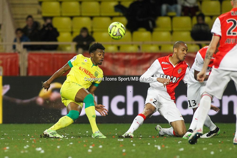 Mbida NKOUDOU / Wallace - 17.01.2015 - Monaco / Nantes - 21eme journee de Ligue 1 <br />Photo : Serge Haouzi / Icon Sport