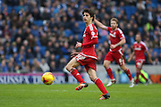 Middlesbrough FC striker Diego Fabbrini during the Sky Bet Championship match between Brighton and Hove Albion and Middlesbrough at the American Express Community Stadium, Brighton and Hove, England on 19 December 2015. Photo by Phil Duncan.