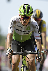 July 15, 2018 - Amiens Metropole, FRANCE - Belgian Serge Pauwels of Dimension Data pictured during the arrival of the eighth stage of the 105th edition of the Tour de France cycling race, from Arras Citadelle to Roubaix (156,5 km), in France, Sunday 15 July 2018. This year's Tour de France takes place from July 7th to July 29th. BELGA PHOTO YORICK JANSENS (Credit Image: © Yorick Jansens/Belga via ZUMA Press)