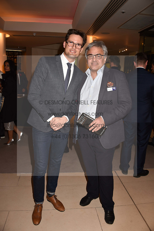 Left to right, Stephen Bowman and Baldassare La Rizza at the Terence Higgins Trust Auction 2017 at Christie's, 8 King Street, St.James's, London England. 11 April 2017.