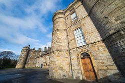 Entrance to Palace of Holyrood in Edinburgh, Scotland, UK