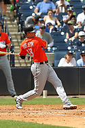 March 18, 2018 - Tampa, FL, U.S. - TAMPA, FL - MAR 18: Garrett Cooper (30) of the Marlins at bat during the game between the Miami Marlins and the New York Yankees on March 18, 2018, at George M. Steinbrenner Field in Tampa, FL. (Photo by Cliff Welch/Icon Sportswire) (Credit Image: © Cliff Welch/Icon SMI via ZUMA Press)
