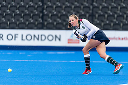 Surbiton's Giselle Ansley. Holcombe v Surbiton - Investec Women's Hockey League Final, Lee Valley Hockey & Tennis Centre, London, UK on 29 April 2018. Photo: Simon Parker