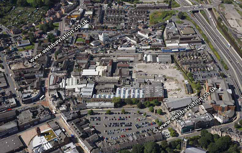 aerial photograph of the Spode Pottery works Stoke-on-Trent Staffordshire UK - the  Potteries