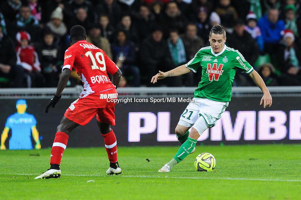 Romain HAMOUMA - 21.12.2014 - Saint Etienne / Evian Thonon - 19eme journee de Ligue 1<br />Photo : Jean Paul Thomas / Icon Sport