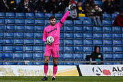 Forest Green Rovers goalkeeper James Montgomery during the The FA Cup 1st round match between Oxford United and Forest Green Rovers at the Kassam Stadium, Oxford, England on 10 November 2018.