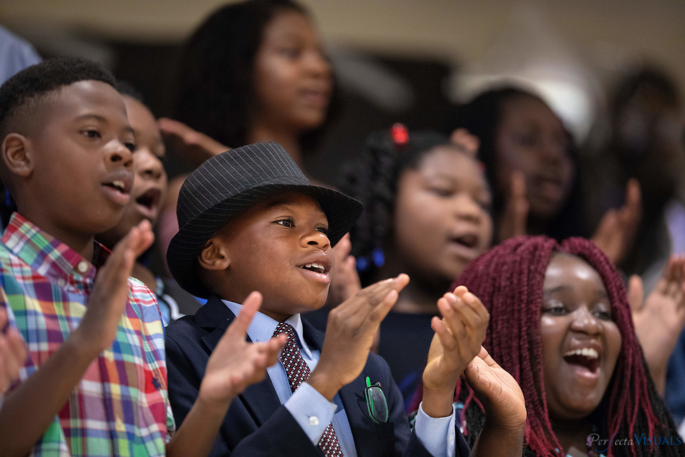 Erwin Montessori&rsquo;s fifth grade graduation held at Alamance Elementary School on the last day of school.<br /> <br /> Photographed, Tuesday, June 12, 2018, in Greensboro, N.C. JERRY WOLFORD and SCOTT MUTHERSBAUGH / Perfecta Visuals