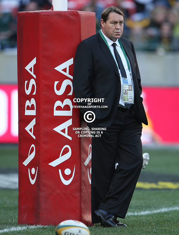 PORT ELIZABETH, SOUTH AFRICA - AUGUST 20, Steve Hansen Assistant coach during the Castle Lager Tri Nations match between South Africa and New Zealand from Nelson Mandela Bay Stadium on August 20, 2011 in Port Elizabeth, South Africa<br /> Photo by Steve Haag / Gallo Images