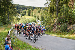 Anna Plichta (POL) leads the peloton during Ladies Tour of Norway 2019 - Stage 3, a 125 km road race from Moss to Halden, Norway on August 24, 2019. Photo by Sean Robinson/velofocus.com