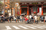 Sensoji Temple is a major tourist attraction in Tokyo.