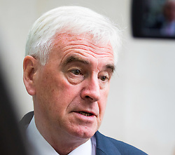 London, July 16th 2017. Labour's Shadow Chancellor John McDonnell attends the BBC's Andrew Marr Show at Broadcasting House in London.