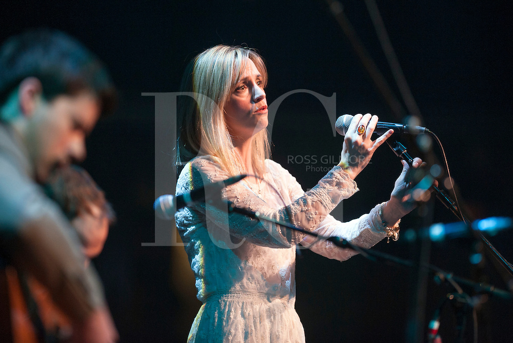 GLASGOW, UNITED KINGDOM - JANUARY 17: Cara Dillon performs at the Celtic Connections 20th Celebration Concert on Day 1 of the Celtic Connections Festival at Glasgow Royal Concert Hall on January 17, 2013 in Glasgow, Scotland. (Photo by Ross Gilmore)