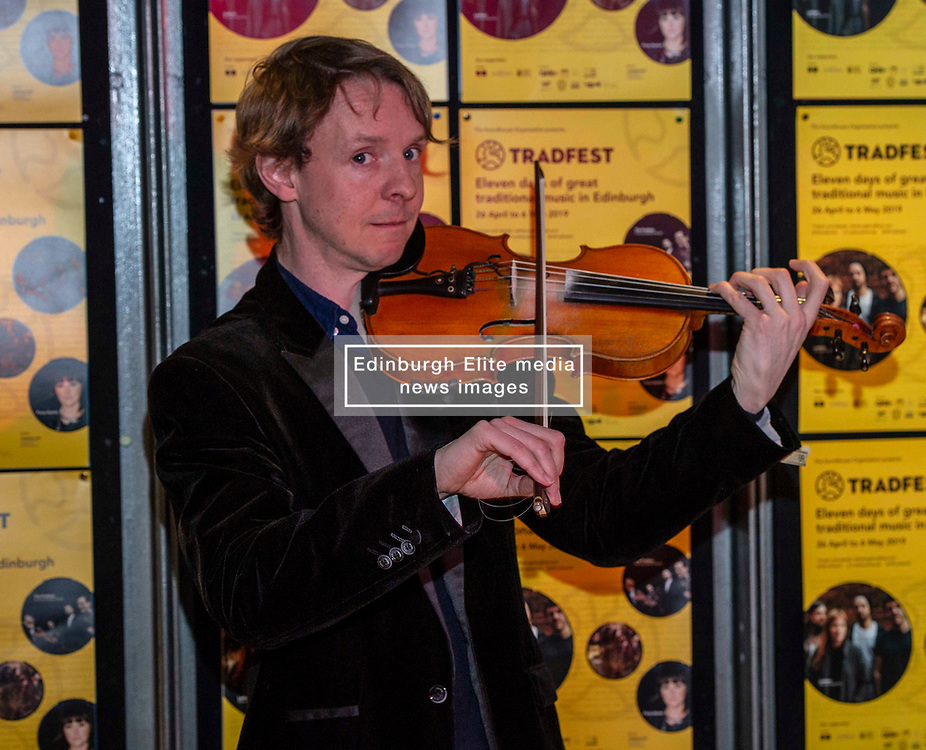 Pictured: Adam Sutherland<br /><br />Tradfest launched its full programme for the 2019 Festival today in Edinburgh. Soundhouse organisers Douglas Robertson and Jane-Ann Purdy were joined by Creative Scotland's Head of Music Alan Morrison, TRACS (Traditional Arts and Culture Scotland) CEO Donald Smith and fiddle player Adam Sutherland. Tradfest runs from April 26 to May 6 <br /><br />Ger Harley | EEm 12 March 2019