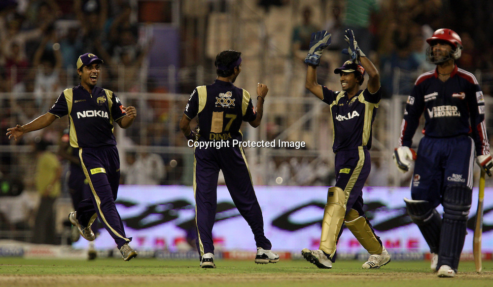 Kolkata Knight Riders Bowler Ashok DInda During The Indian During The Premier League - 39th match Twenty20 match | 2009/10 season Played at Eden Gardens, Kolkata 7 April 2010 - day/night (20-over match)