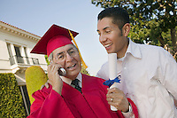 Excited Graduate with Son