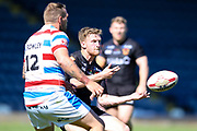 Bradford Bulls scrum half Joe Keyes (7) in action during the Kingstone Press Championship match between Rochdale Hornets and Bradford Bulls at Spotland, Rochdale, England on 18 June 2017. Photo by Simon Davies.