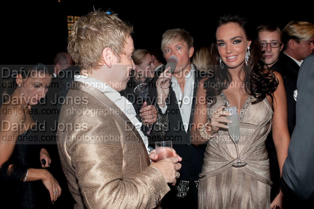 ROYSTON BLYTHE; NICK MILENKO; TAMARA ECCLESTONE, Grey Goose Winter Ball to Benefit the Elton John AIDS Foundation. Battersea park. London. 29 October 2011. <br /> <br />  , -DO NOT ARCHIVE-&copy; Copyright Photograph by Dafydd Jones. 248 Clapham Rd. London SW9 0PZ. Tel 0207 820 0771. www.dafjones.com.