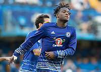Football - 2016/2017 Premier League - Chelsea V West Ham United. <br /> <br /> Michy Batshuayi of Chelsea ahead of the match at Stamford Bridge.<br /> <br /> COLORSPORT/DANIEL BEARHAM