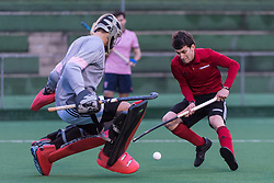 Southgate v Teddington - Men's Hockey League East Conference, Trent Park, London, UK on 24 March 2018. Photo: Simon Parker