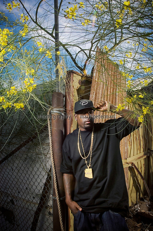 Willy Northpole, hip-hop artist on the streets of his hometown Phoenix, Arizona.