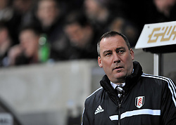 Fulham Manager, Rene Meulensteen - Photo mandatory by-line: Alex James/JMP - Tel: Mobile: 07966 386802 28/01/2014 - SPORT - FOOTBALL - Liberty Stadium - Swansea - Swansea City v Fulham - Barclays Premier League