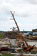 June 06, 2010: Some of the destruction of the home owned by Tim and Debbie Miller after a tornado hits Ottawa County, T ornado destruction in Ottawa County, Ohio