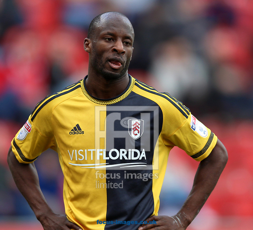Sone Aluko of Fulham scored the winning goal during the Sky Bet Championship match at the New York Stadium, Rotherham<br /> Picture by James Wilson/Focus Images Ltd 07709 548263<br /> 01/04/2017