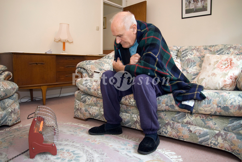 Elderly man who can only afford to heat himself with one bar of the electric fire UK