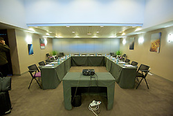 LILLE, FRANCE - Wednesday, January 27, 2016: Meeting room America at the Crowne Plaza Lille Hotel during an inspection visit ahead of the UEFA Euro 2016 Tournament. (Pic by David Rawcliffe/Propaganda)