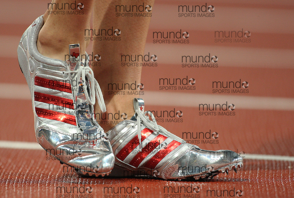 2008 Beijing Olympic Games- Day 7 - Evening- August 21st, 2008 *** Jeremy Wariner`s shoes -- 400m, USA *** Day 7