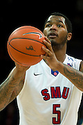 DALLAS, TX - JANUARY 21: Markus Kennedy #5 of the SMU Mustangs shoots a free-throw against the Rutgers Scarlet Knights on January 21, 2014 at Moody Coliseum in Dallas, Texas.  (Photo by Cooper Neill/Getty Images) *** Local Caption *** Markus Kennedy