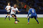 Darren Pratley and Josh Payne battle during the The FA Cup Third Round Replay match between Bolton Wanderers and Eastleigh at the Macron Stadium, Bolton, England on 19 January 2016. Photo by Pete Burns.