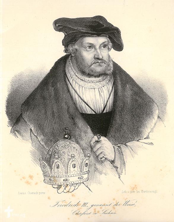 Taken From:<br /> Rudelbach, A. G. Bildersaal der Zeugen und Helden aus der Reformationszeit: Biographien. Dresden: Bei Justus Naumann, 1845.<br /> <br /> Lithodgraph of Lucas Cranach