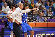 Ettore Messina<br /> Nazionale Italiana Maschile Senior<br /> Eurobasket 2017 - Group Phase<br /> Ukraina - Italia<br /> FIP 2017<br /> Tel Aviv, 02/09/2017<br /> Foto Ciamillo - Castoria/ M.Longo