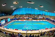General view inside the Aquatics Centre during the heats at the World Para Swimming Championships 2019 Day 1 held at London Aquatics Centre, London, United Kingdom on 9 September 2019.