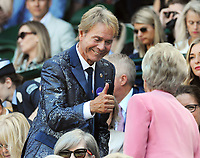 Tennis - 2019 Wimbledon Championships - Week Two, Thursday (Day Ten)<br /> <br /> Women's Singles, Semi-Final: Elina Svitolina (UKR) vs. Simona Halep (ROU)<br /> <br /> Singer, Cliff Richard in the Royal box, on Centre Court.<br /> <br /> COLORSPORT/ANDREW COWIE