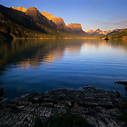 St. Mary Lake and Wild Goose Island in Glacier National Park, MT.