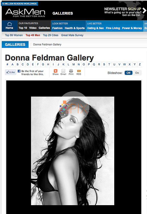 Donna Feldman in ASKMEN.COM :: December 2011