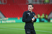 Derby County midfielder Harry Wilson (7) arrives at the stadium during the EFL Sky Bet Championship match between Stoke City and Derby County at the Bet365 Stadium, Stoke-on-Trent, England on 28 November 2018.
