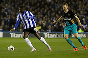 Sheffield Wednesday forward Lucas Joao on the attack during the Capital One Cup Fourth Round match between Sheffield Wednesday and Arsenal at Hillsborough, Sheffield, England on 27 October 2015. Photo by Aaron Lupton.