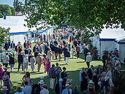 Henley Royal Regatta, 3-7 July 2019. General View, GV, Spectators, in the Stewards' Enclosure, Royal Henley Peace Regatta Centenary, 1919-2019. Henley on Thames.<br /> <br /> <br /> <br /> [Mandatory Credit: Patrick WHITE/Intersport Images], 4, 04/07/2019,  15:30:08