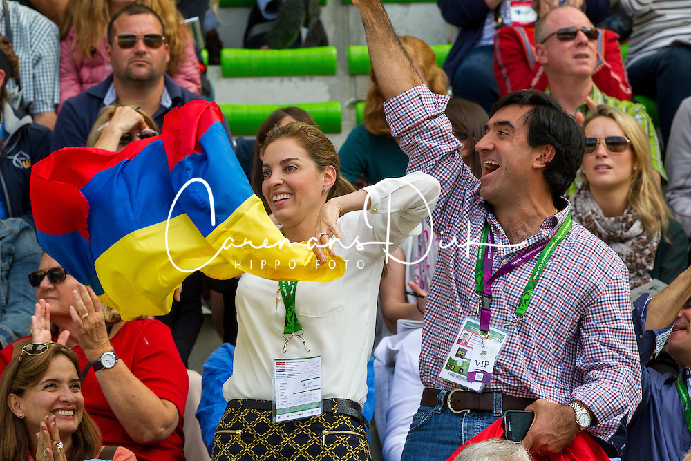Alba Lucia Lara and César Camargo, President of the Colombian Equestrian Federation, COL - Team & Individual Competition Jumping Speed - Alltech FEI World Equestrian Games™ 2014 - Normandy, France.<br /> © Hippo Foto Team - Leanjo De Koster<br /> 02-09-14
