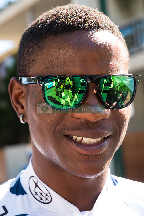 January 18, 2018 - Glenelg, South Australia, Australia - Nicolas Dlamini, King of the Mountain leader at the start of Stage 3, Glenelg to Victor Harbor, of the Tour Down Under, Australia on the 18 of January 2018  (Credit Image: © Gary Francis via ZUMA Wire)