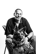 Mark Russell<br /> Army<br /> E-7<br /> Frequency Manager<br /> Sept. 12, 1975-Oct. 10, 1996<br /> Desert Shield/Storm<br /> <br /> MWD Brit<br /> Army<br /> Drug detection do(PNDD)<br /> <br /> Veterans Portrait Project<br /> Fayetteville, NC