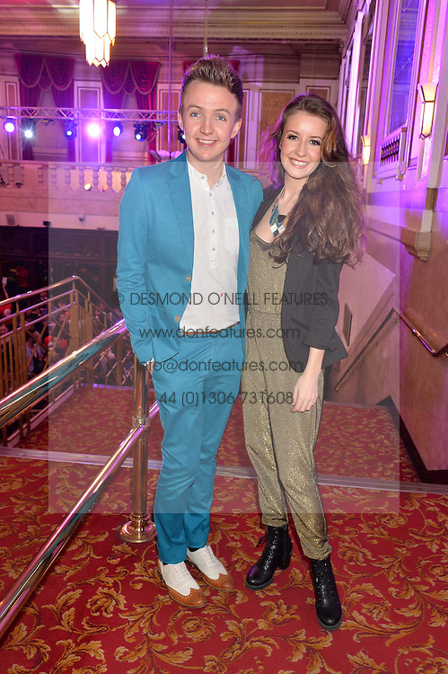 JORDAN LEE DAVIES and EMILIE FLEMING at the West End Eurovision in aid of MAD - The Make A Difference Trust held at the Dominion Theatre, 268-269 Tottenham Court Road, London on 22nd May 2014