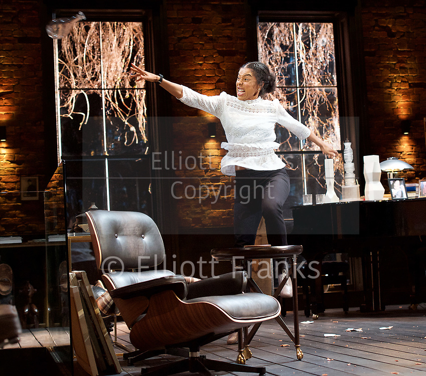 Edward Albee&rsquo;s The Goat or Who is Sylvia <br /> production by Ian Rickson <br /> at The Theatre Royal Haymarket London, Great Britain <br /> 30th March 2017 <br /> press photocall <br /> <br /> Sophie Okonedo as Stevie <br /> <br /> <br /> Photograph by Elliott Franks <br /> Image licensed to Elliott Franks Photography Services