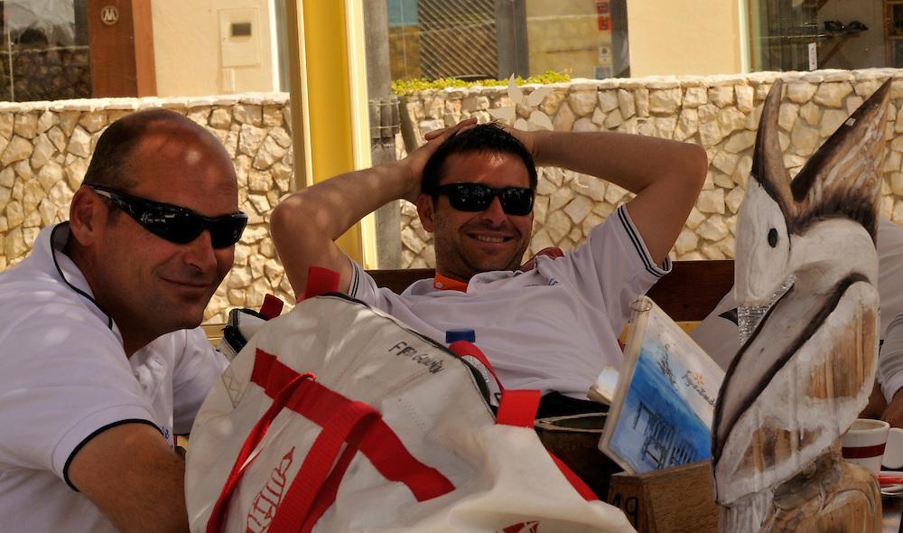 Crews relax at the ViP Village. Photo:Chris Davies/WMRT