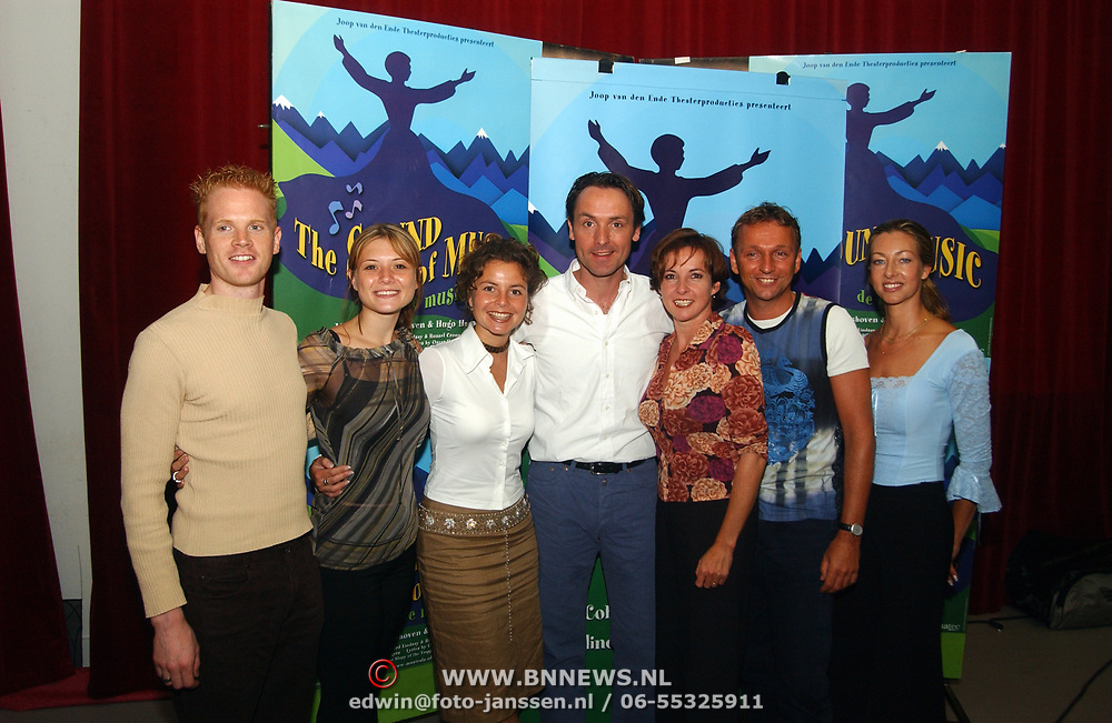 Perspresentatie musical Sound of Music, cast, Jurgen Stein, Celine Purcell, Hugo Haenen, Maaike Widdershoven, Annemieke Ruyten, Dick Cohen en Esther Been